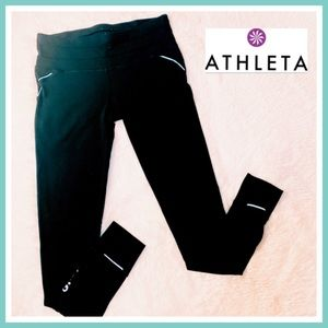 Athleta Black Yoga Workout Tights Leggings Pants